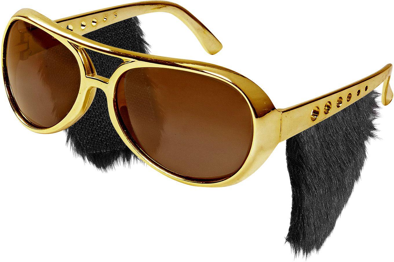 Rock 'N Roll bril met bakkebaarden