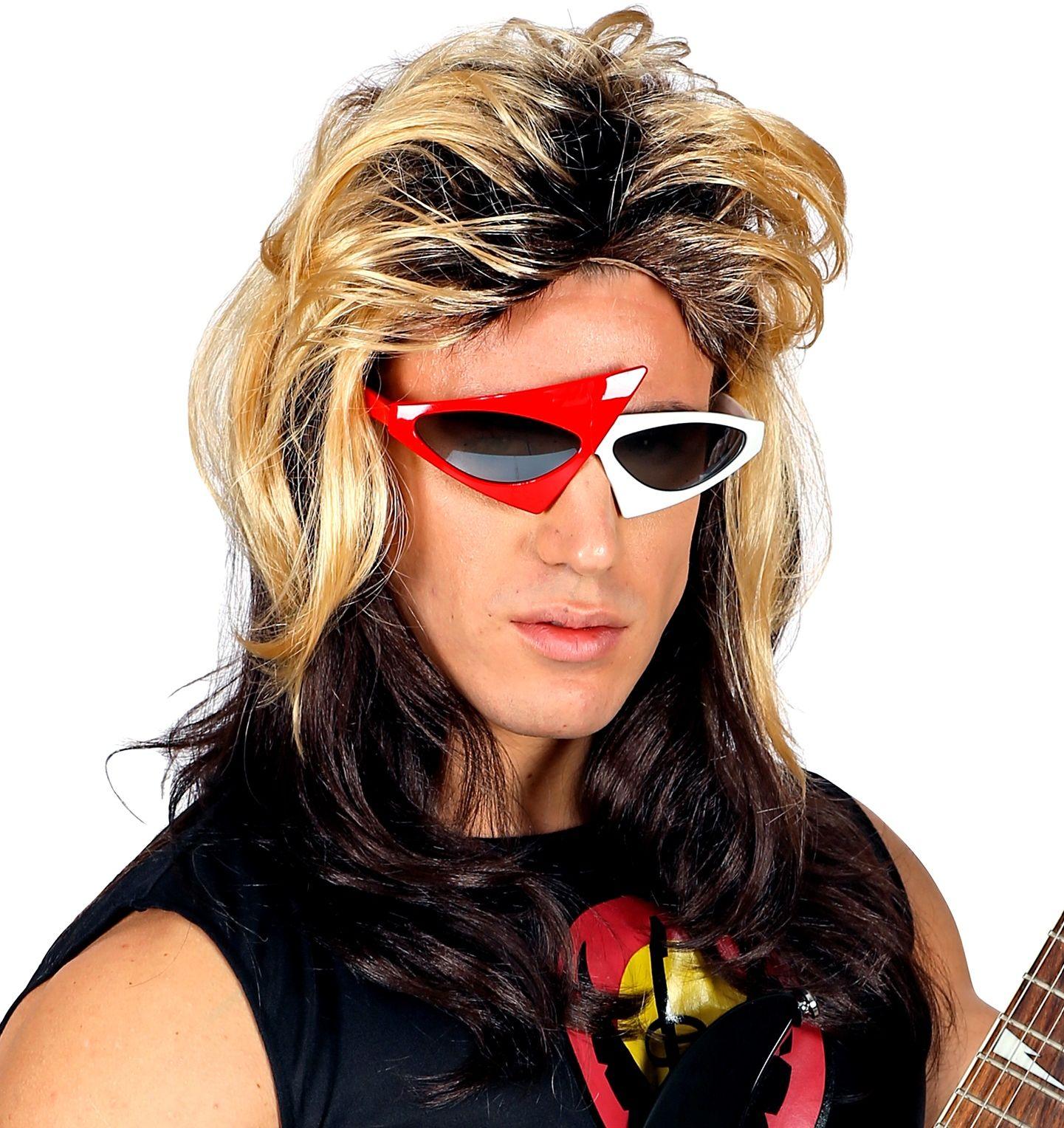 Rocker pruik 80s
