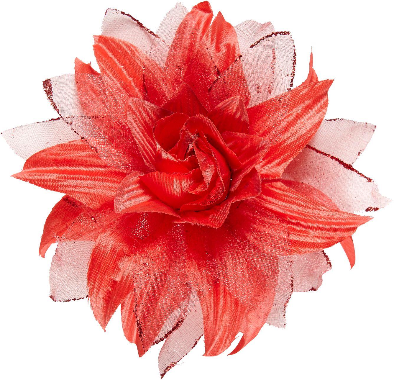 Rode bloem haarspeld