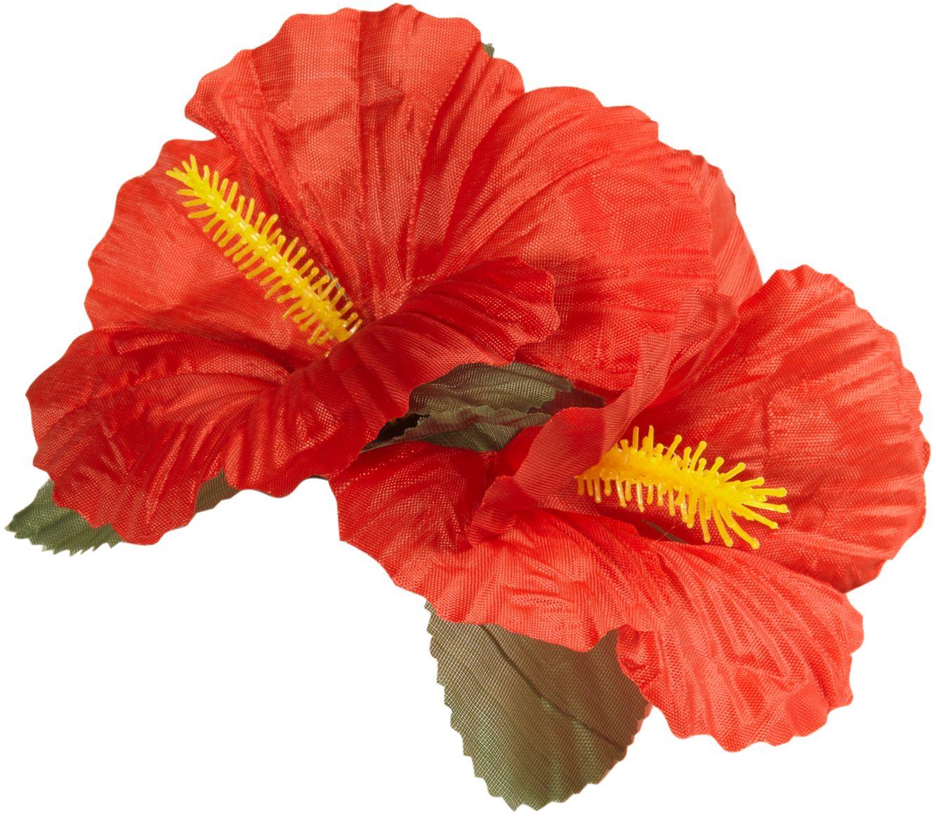 Rode bloemen haarspeld