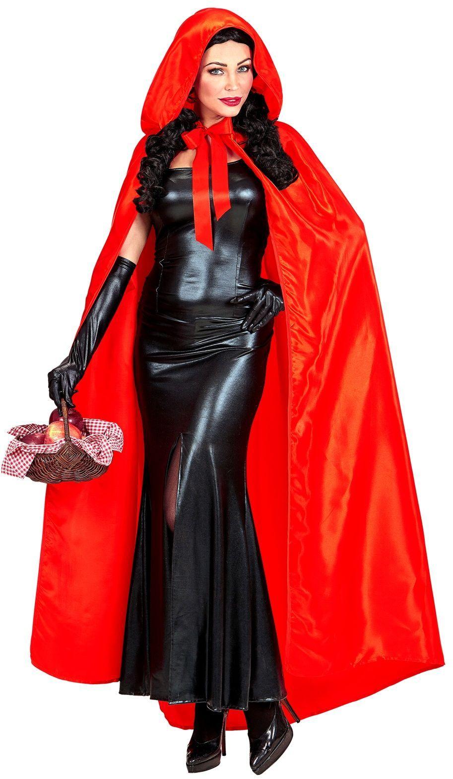 Rode cape met muts