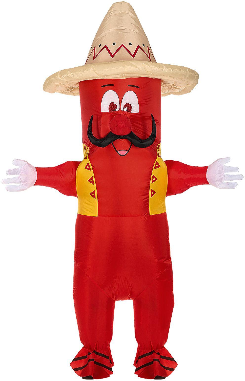 Rode chili peper kostuum