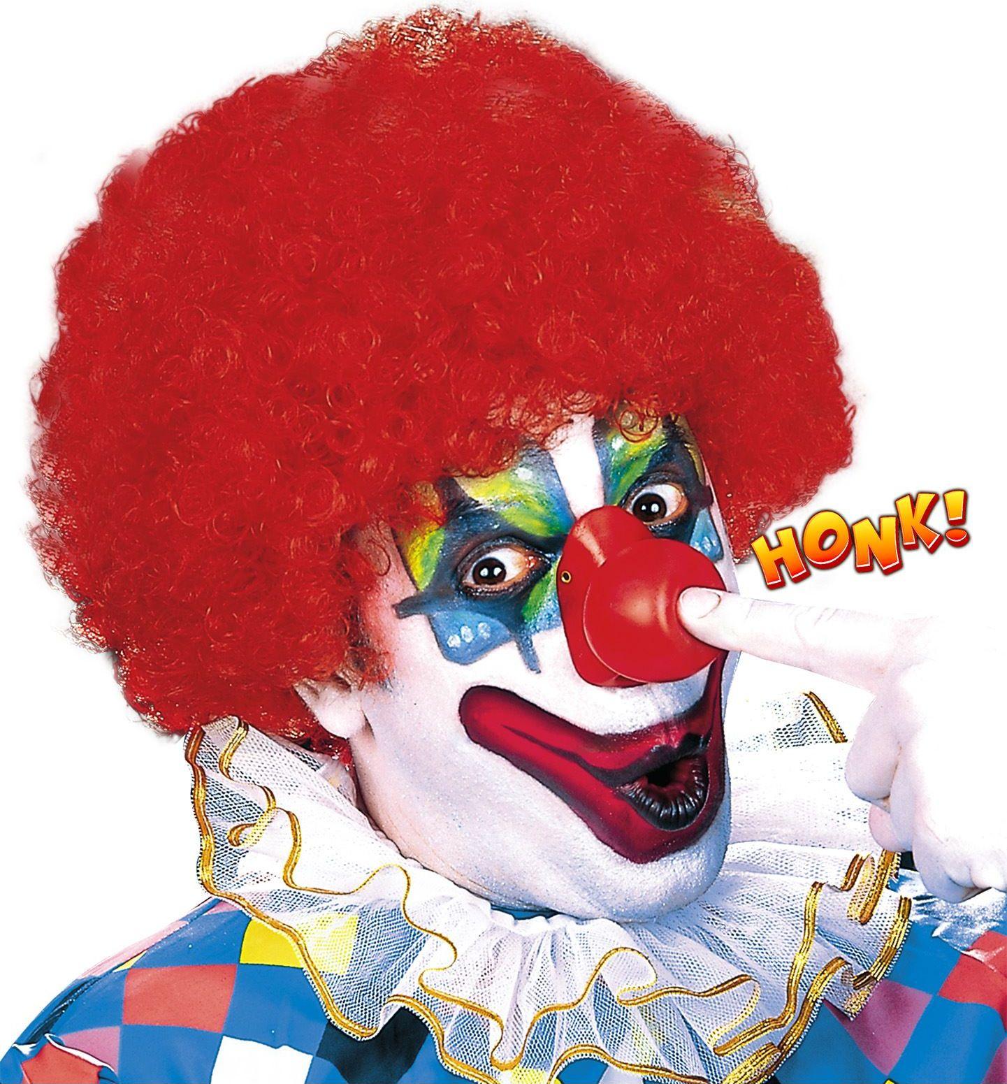 Rode clownsneus met geluid
