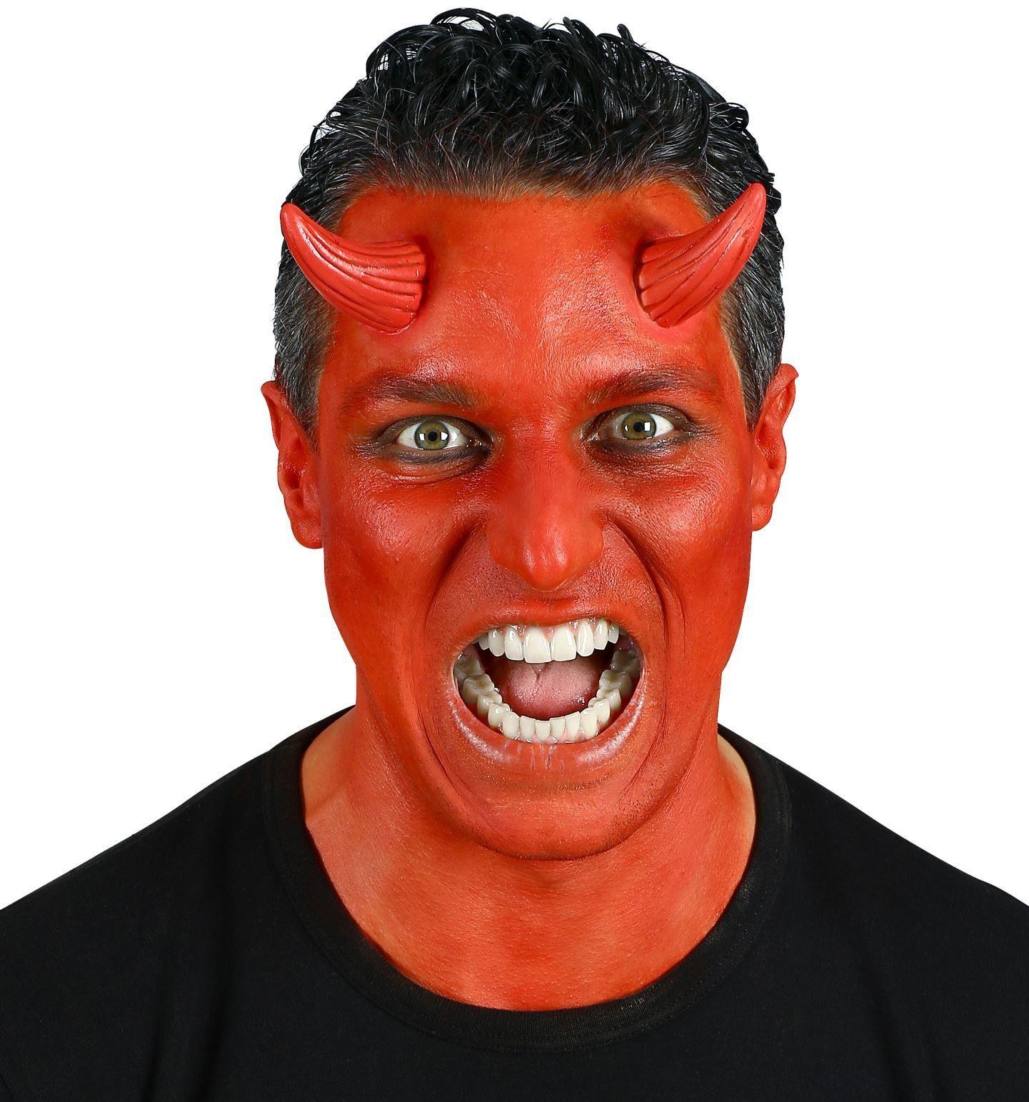 Rode duivel oortjes opplakbaar