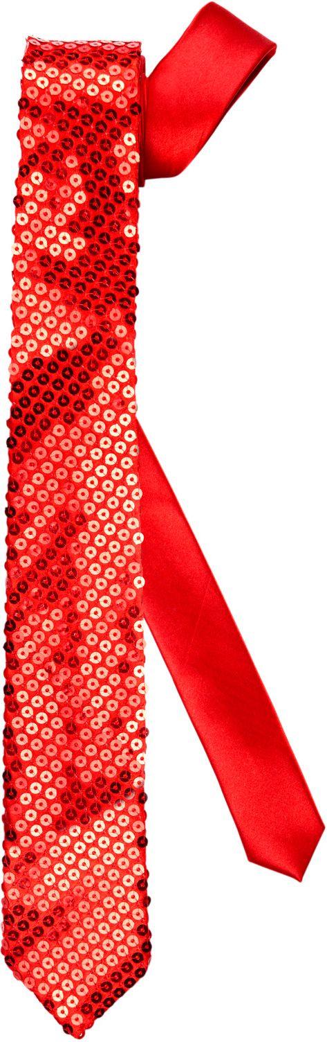 Rode glitter stropdas
