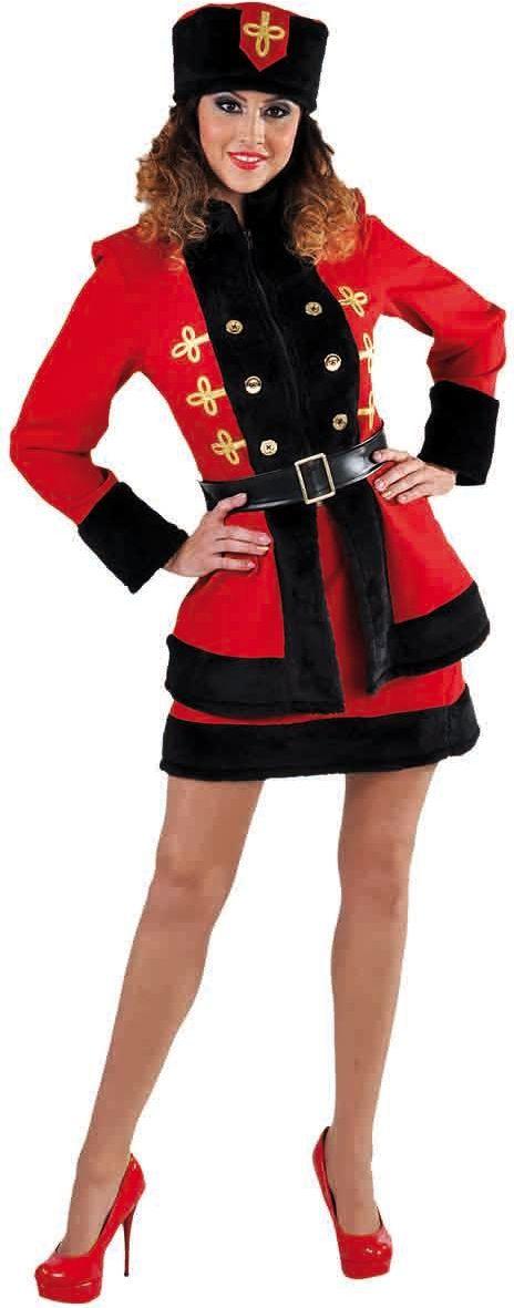 Rode kozak jurk vrouwen