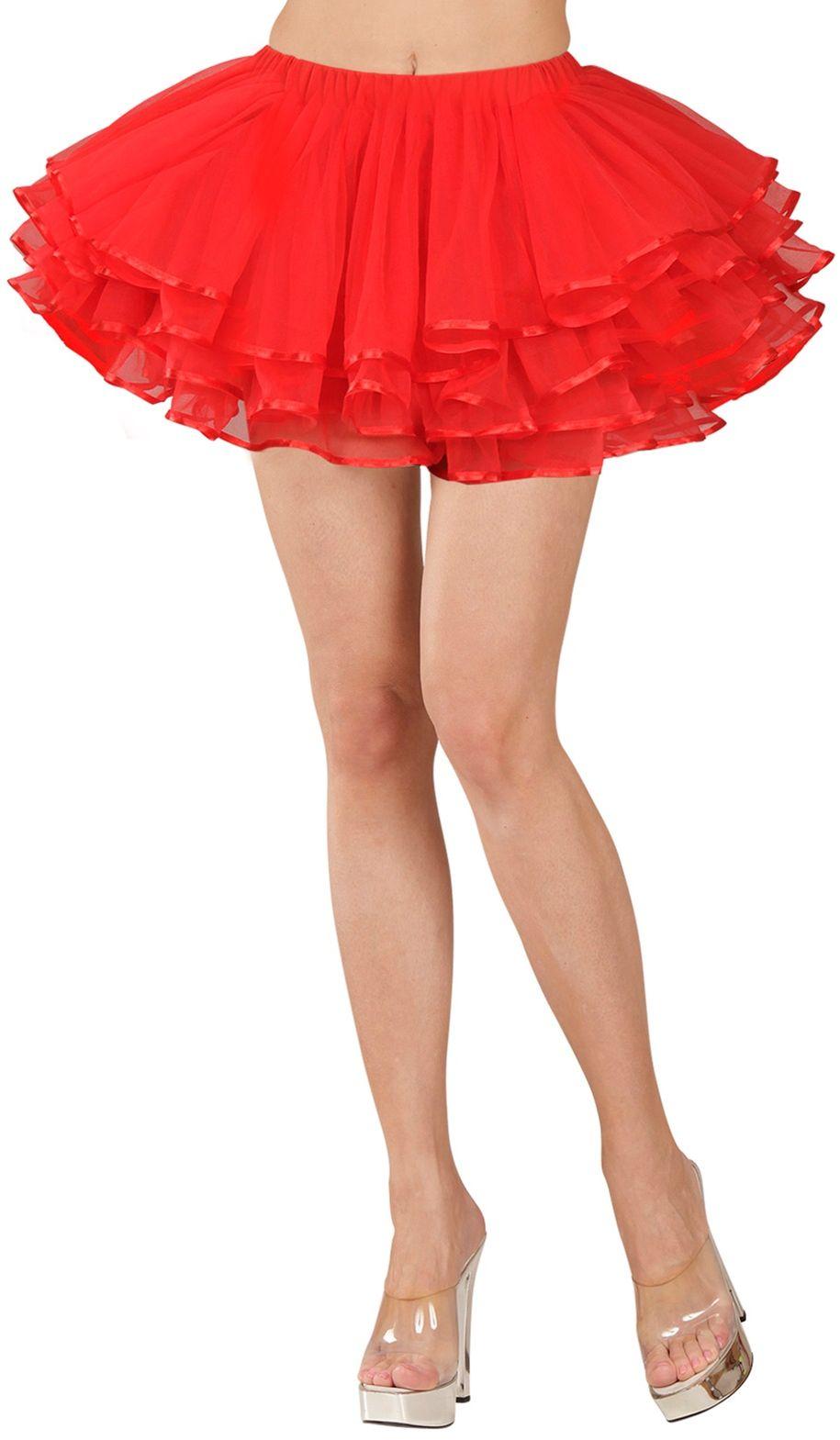 Rode luxe ballerina rokje