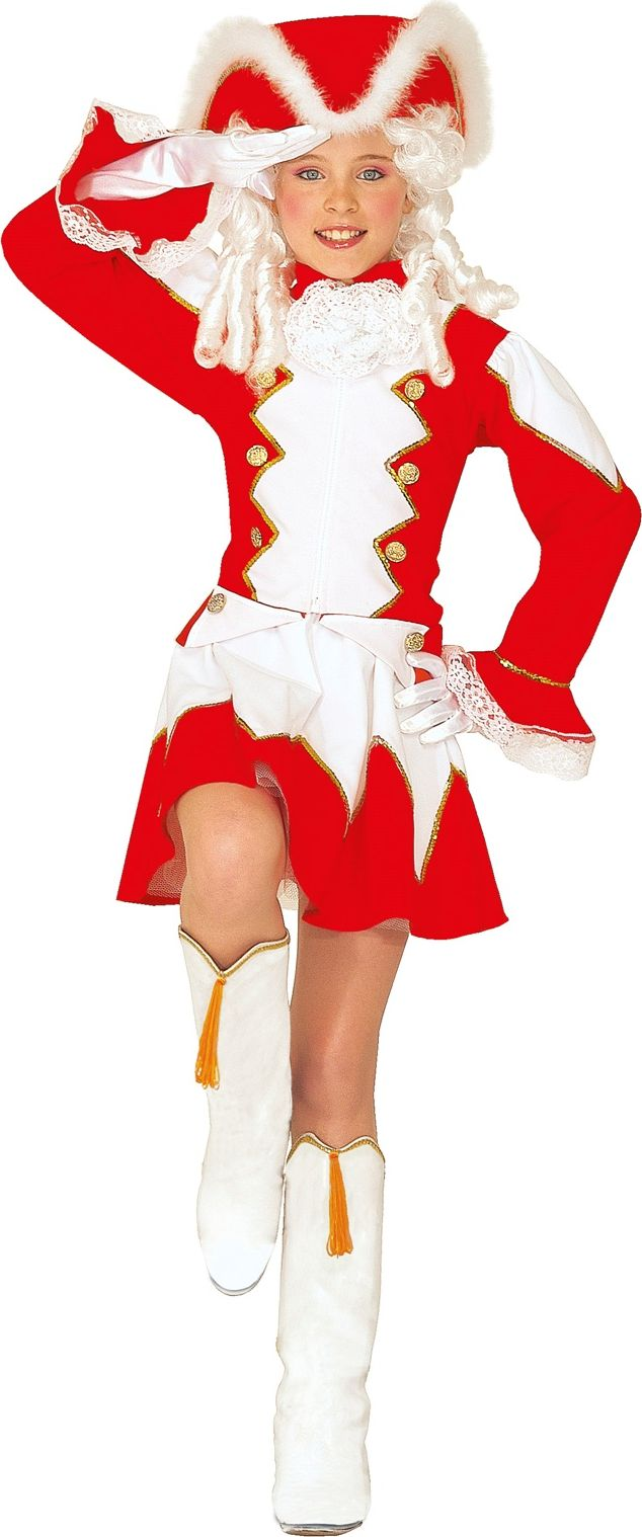 Rode majorette kleding kind