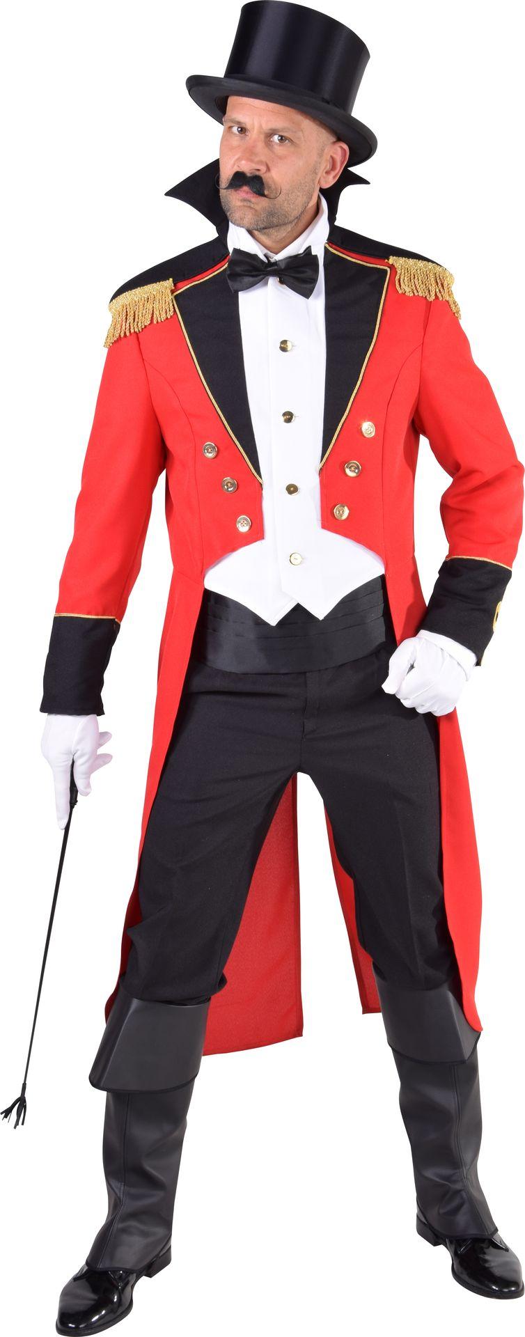 Rode mantel circusdirecteur man