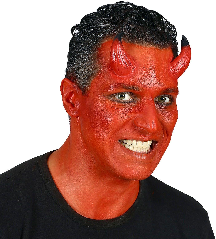 Rode opplakbare duivel hoorntjes