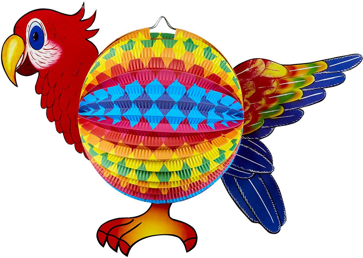 Rode papegaai lampion