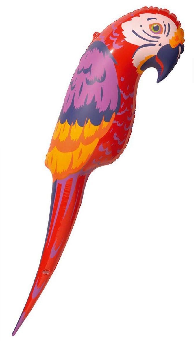 Rode papegaai opblaasbaar