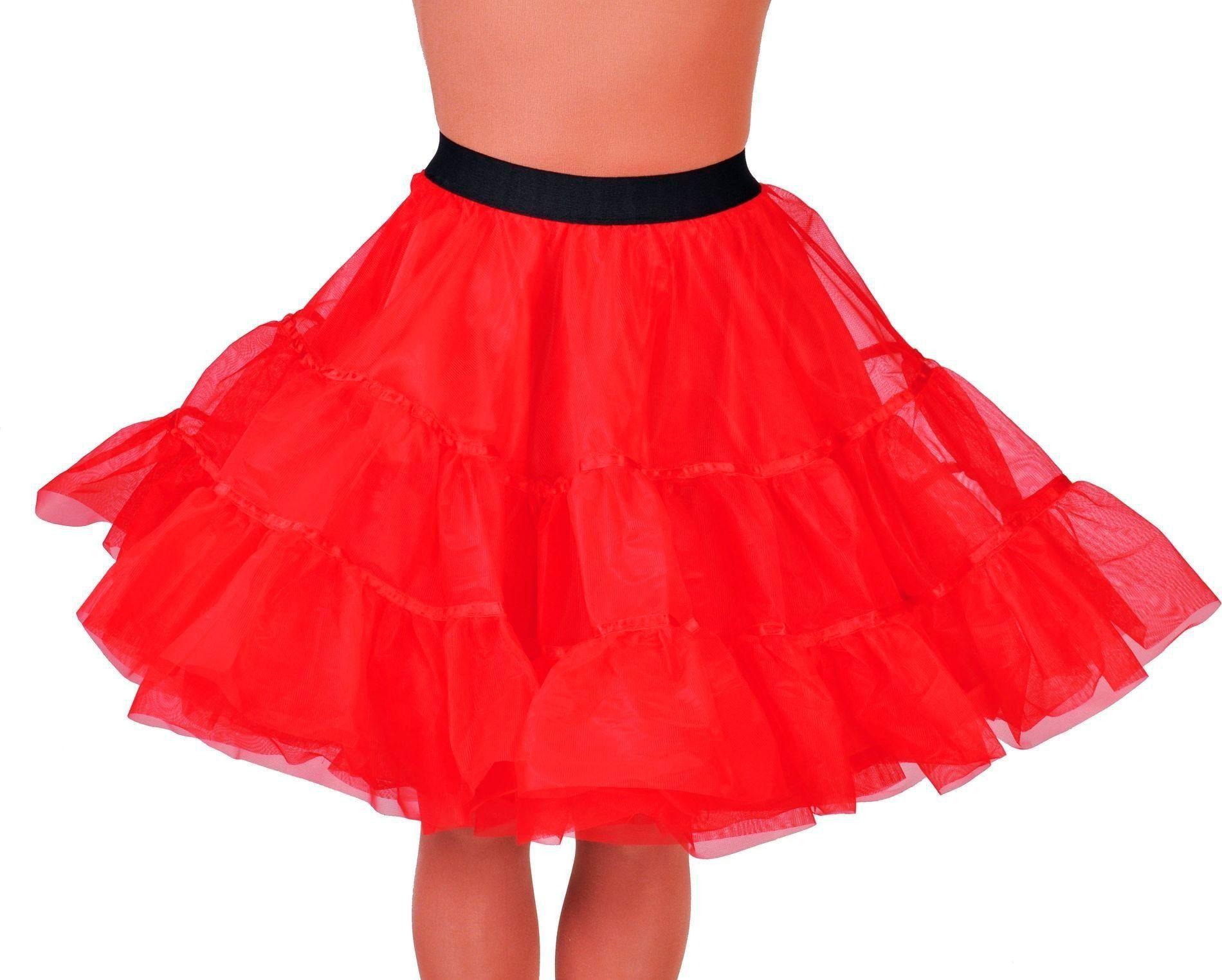 Rode petticoat middel lang vrouwen