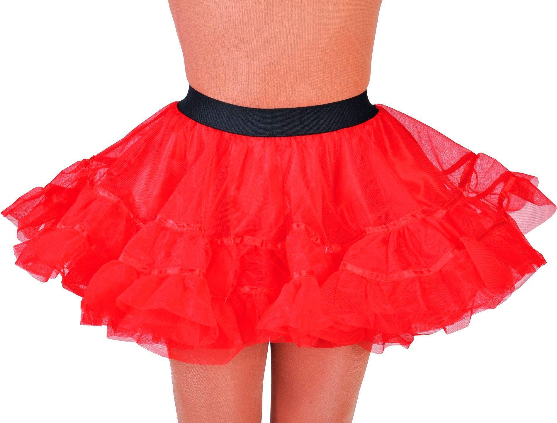 Rode petticoat vrouwen
