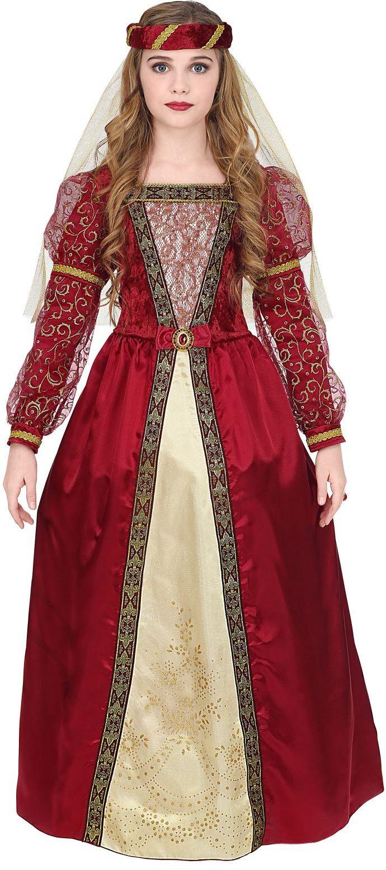 Rode prinsessen jurk meisje
