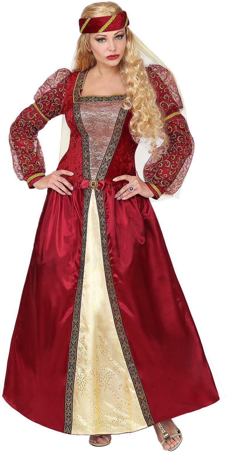 Rode prinsessen jurk middeleeuwen
