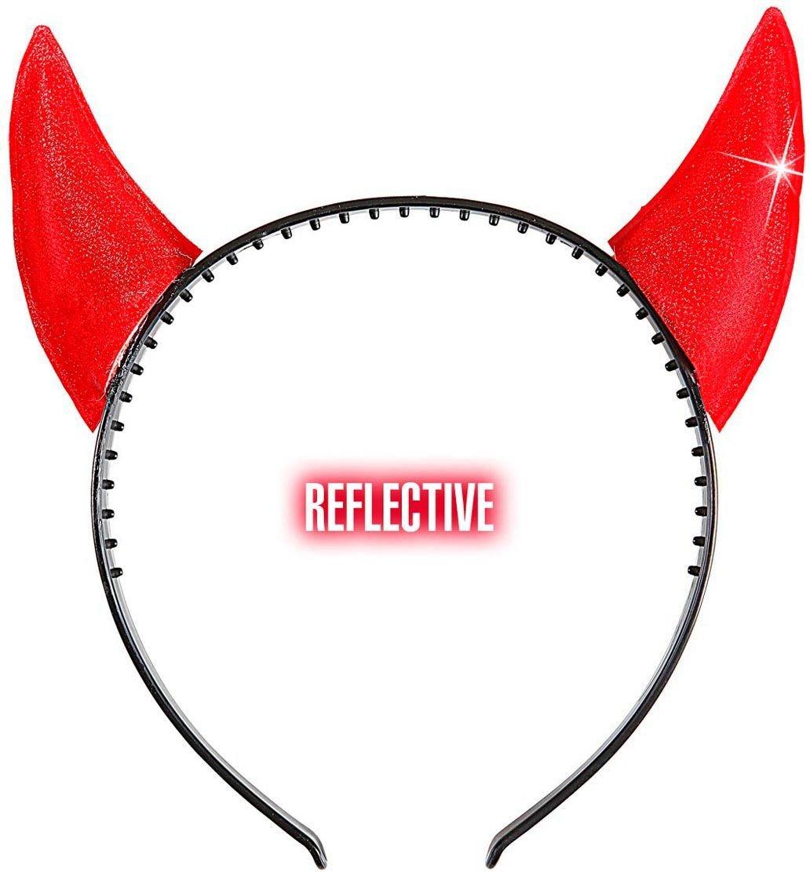 Rode reflecterende duivel hoorntjes