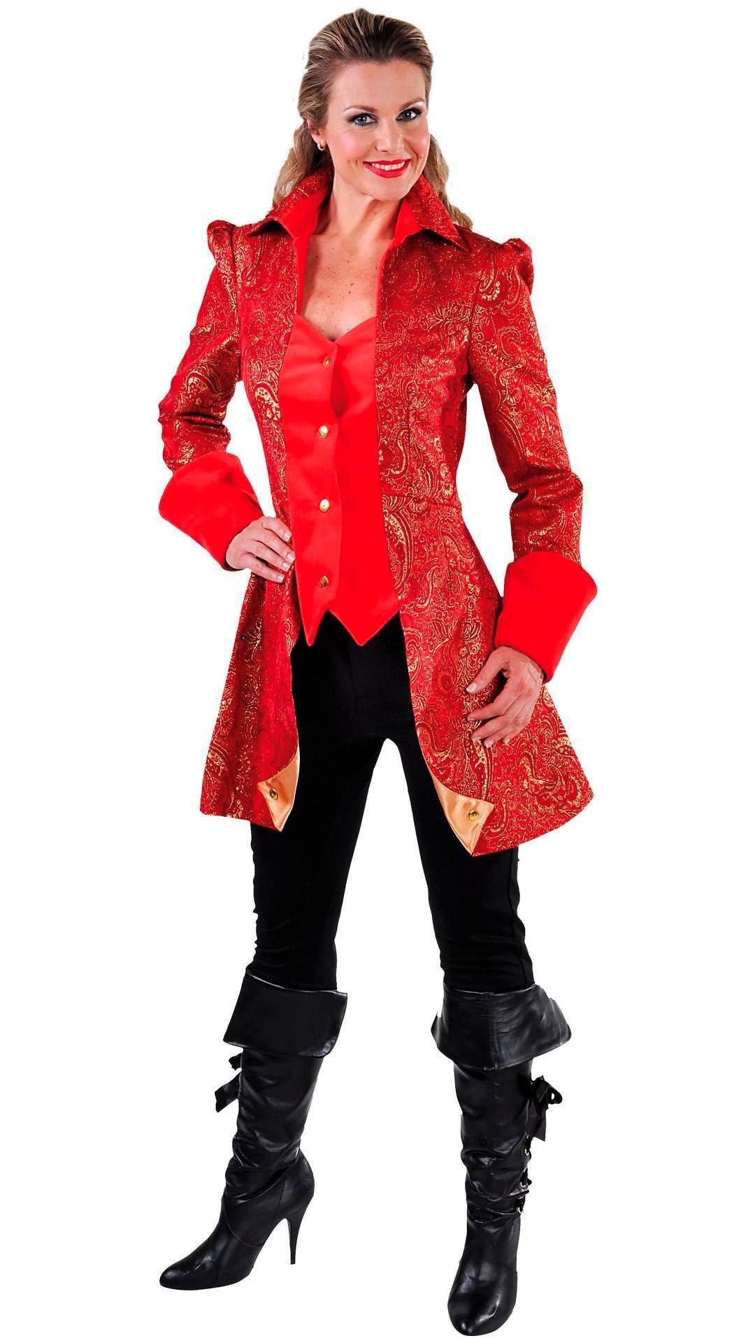 Rode rokjas vrouw