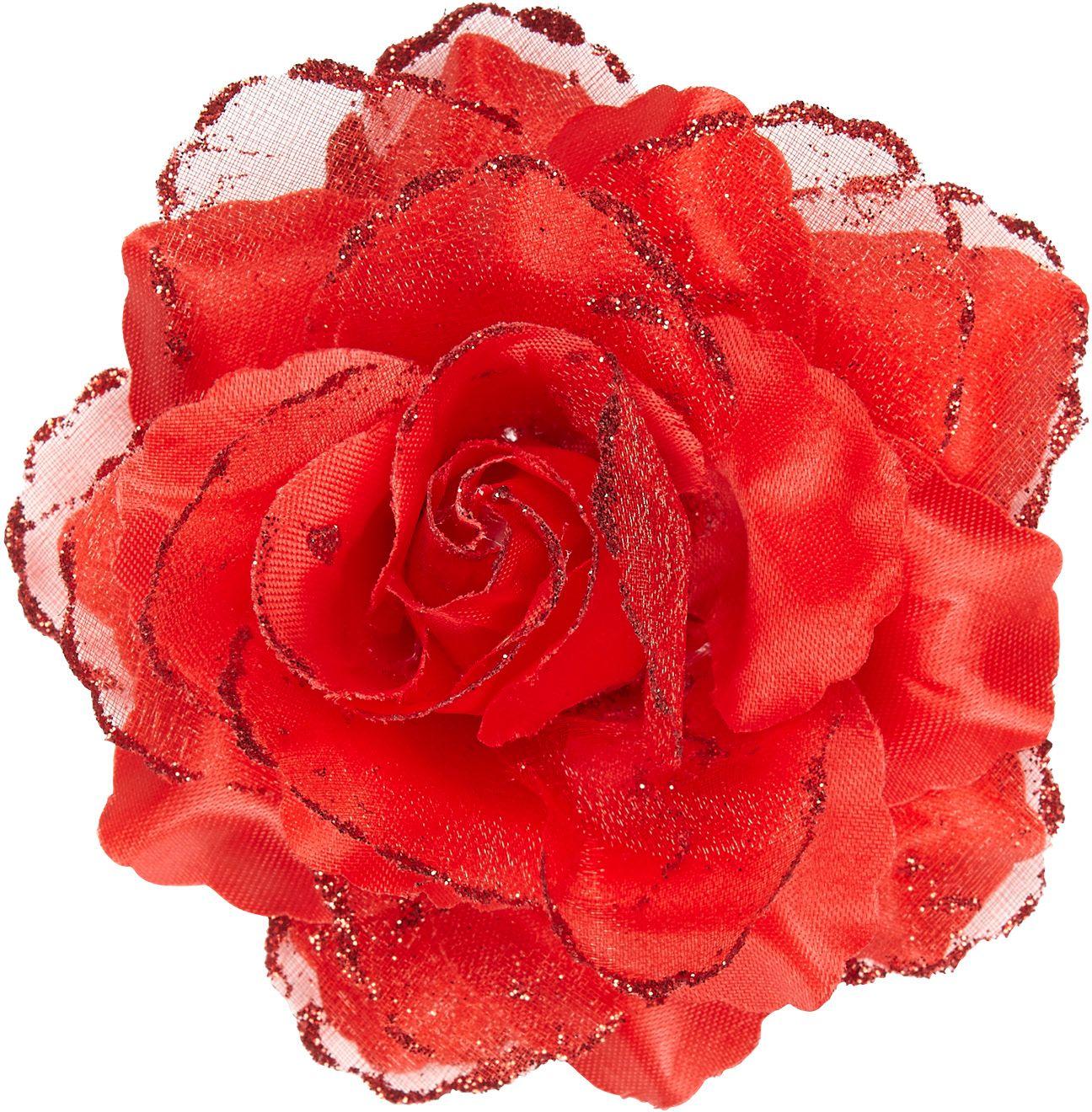 Rode roos haarspeld