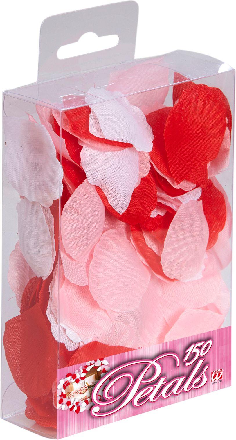 Rode, roze en witte rozen blaadjes 150 stuks