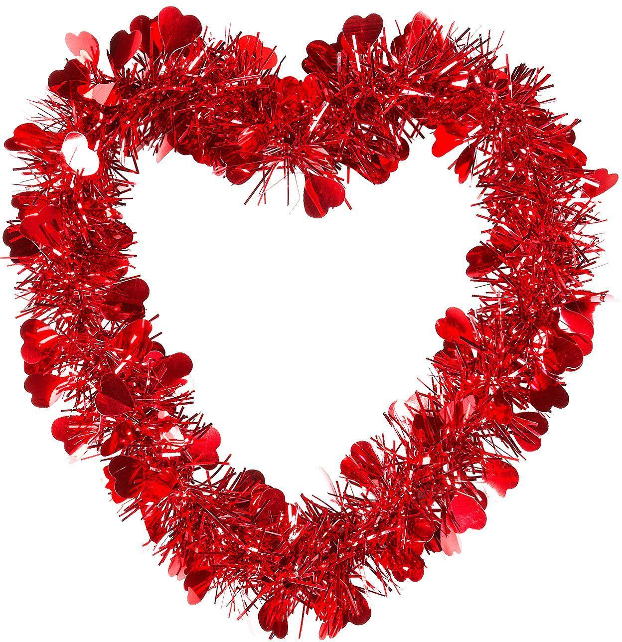 Rode valentijnshart slinger