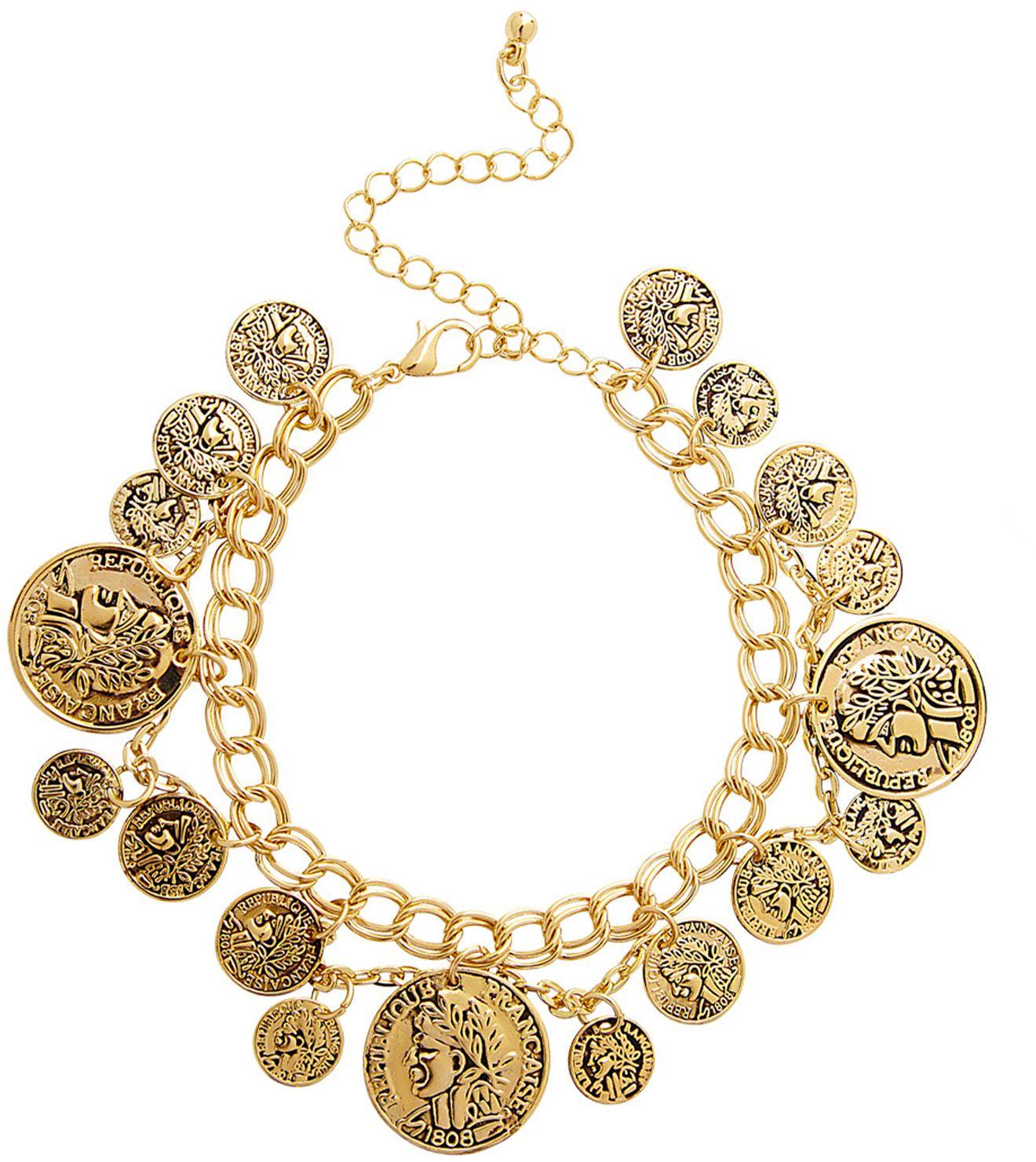 Romeinse munten armband goud