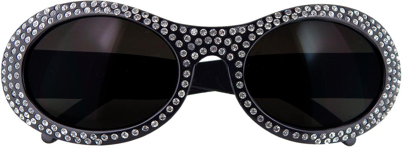 Ronde bril met strass steentjes