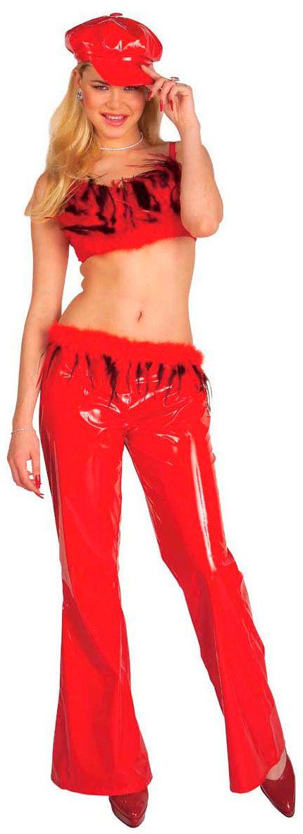 Rood Cool Girl kostuum