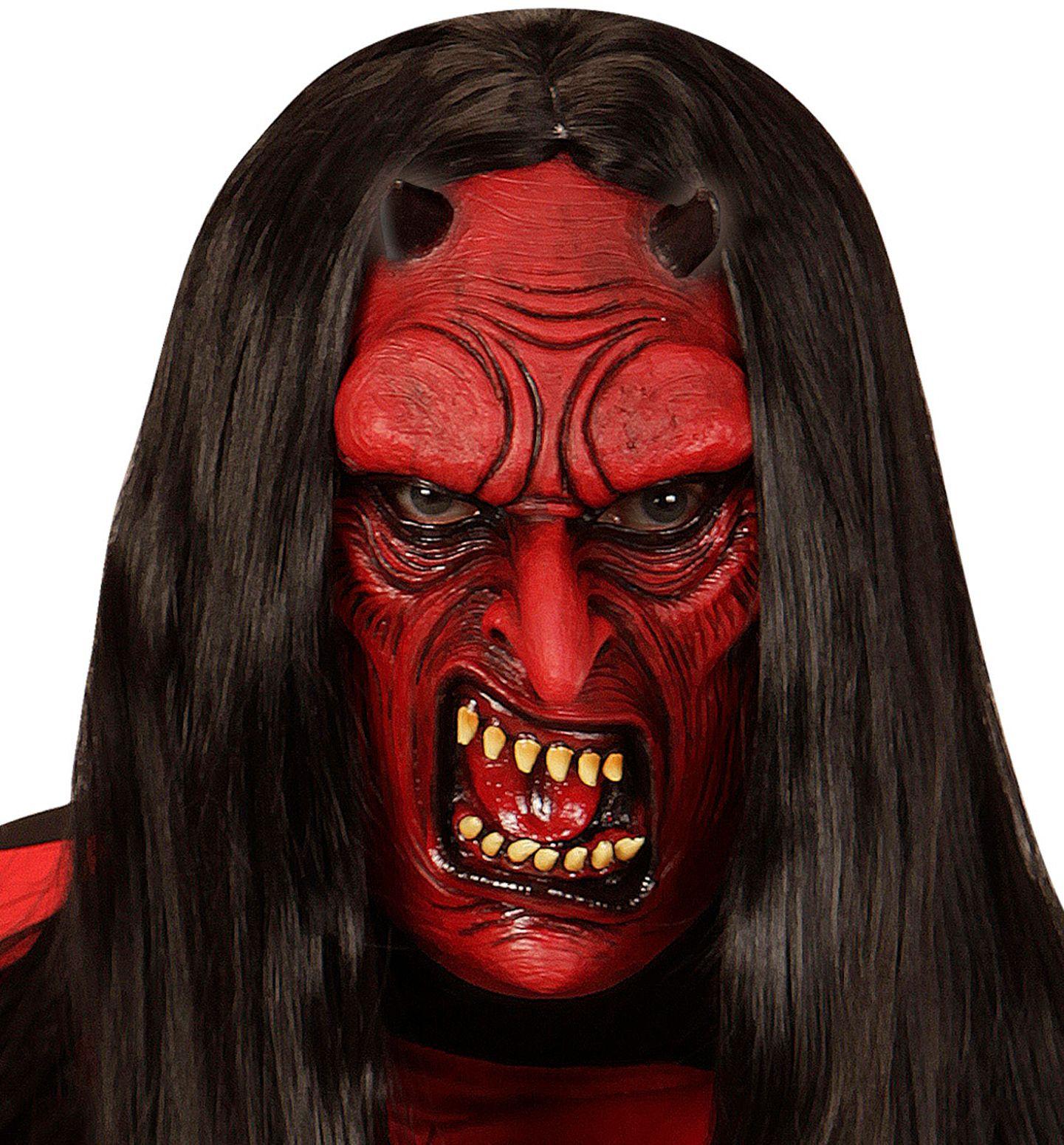 Rood duivel masker kind