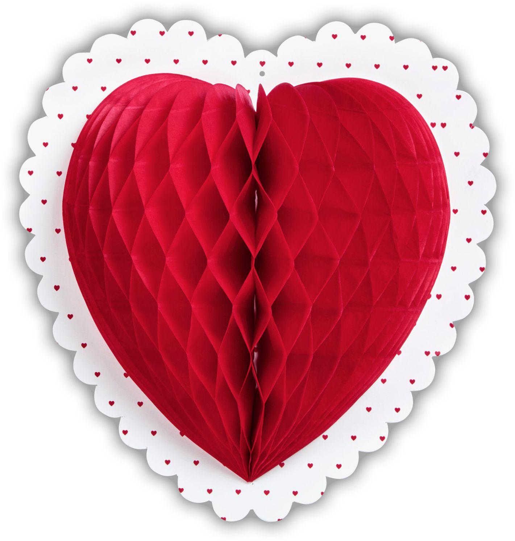 Rood hart honingraat