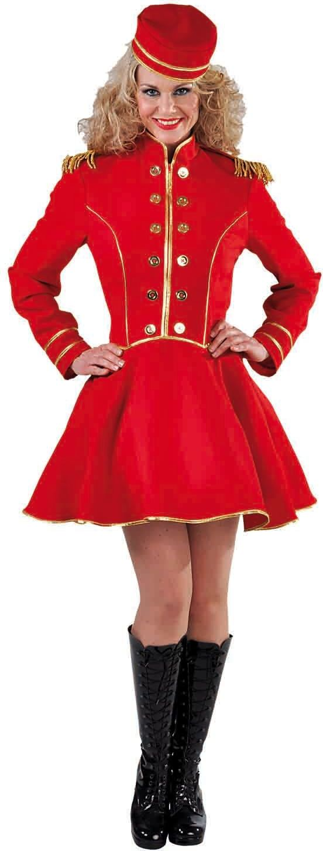 Rood piccolo pakje vrouw