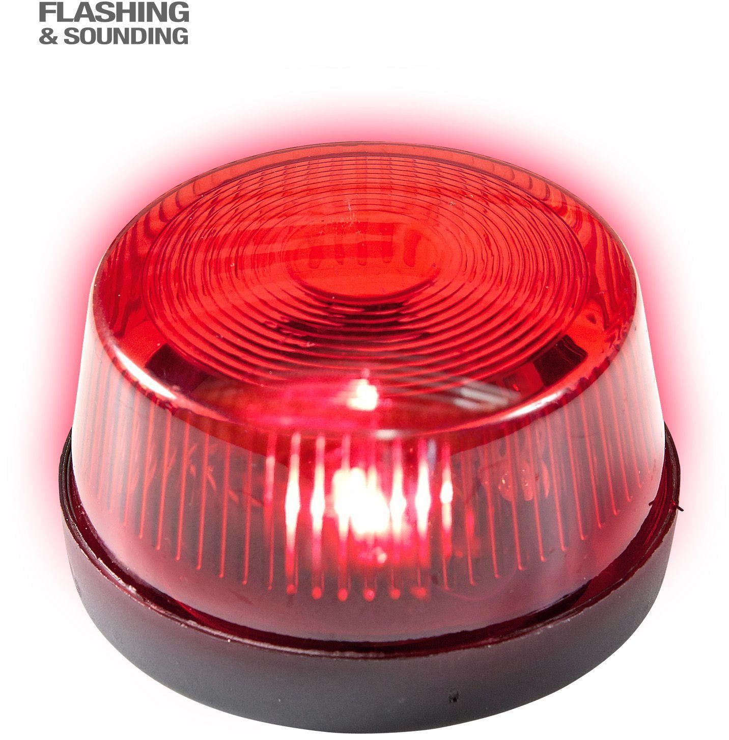 Rood sirenelicht met geluid
