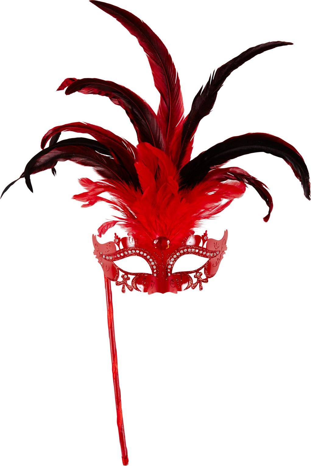 Rood venetiaans masker op stok