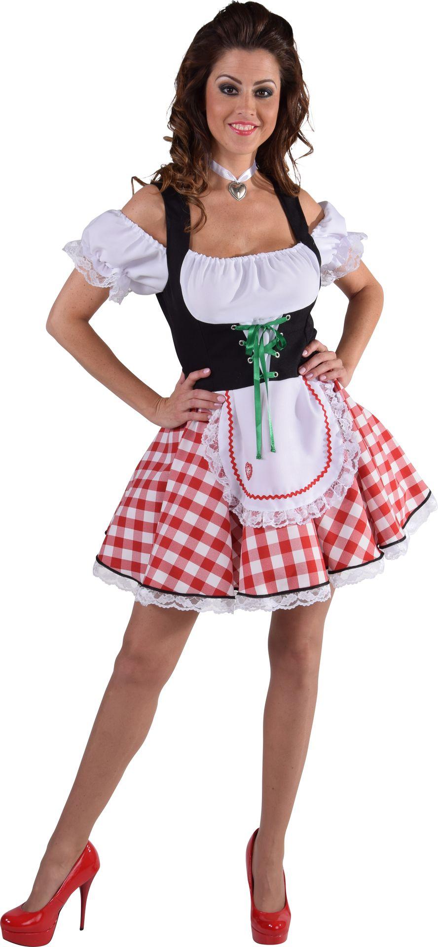 Rood wit oktoberfest jurkje dames