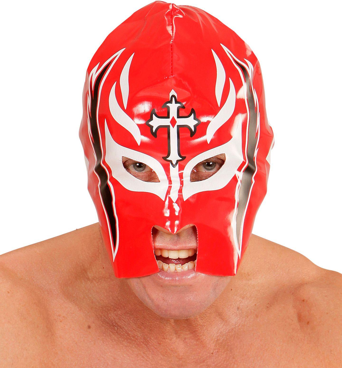 Rood worstelaars masker