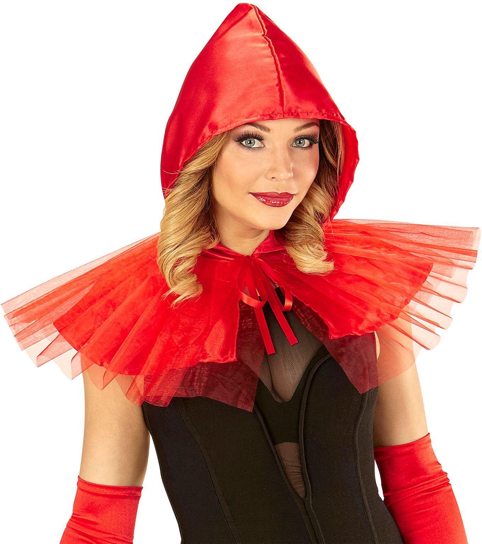 Roodkapje cape met muts