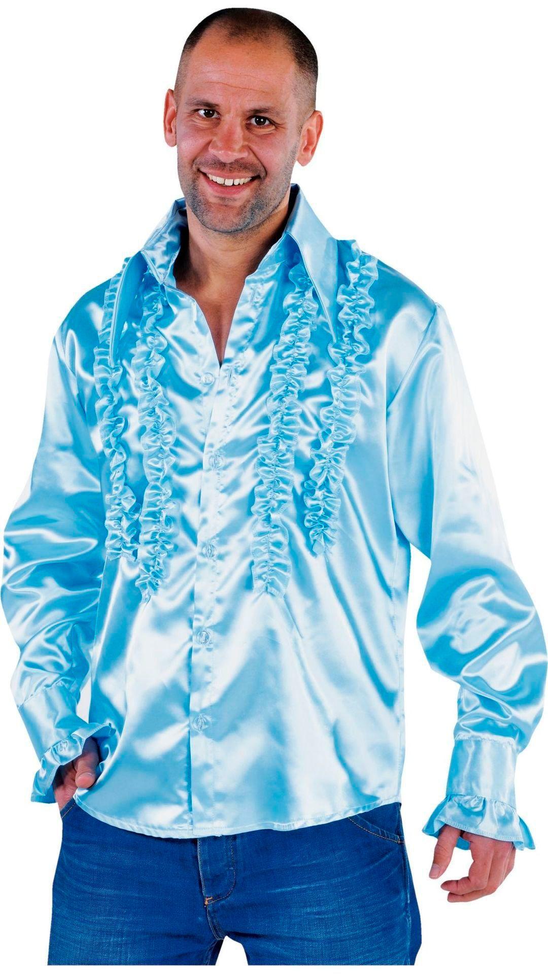 Rouches blouse blauw mannen