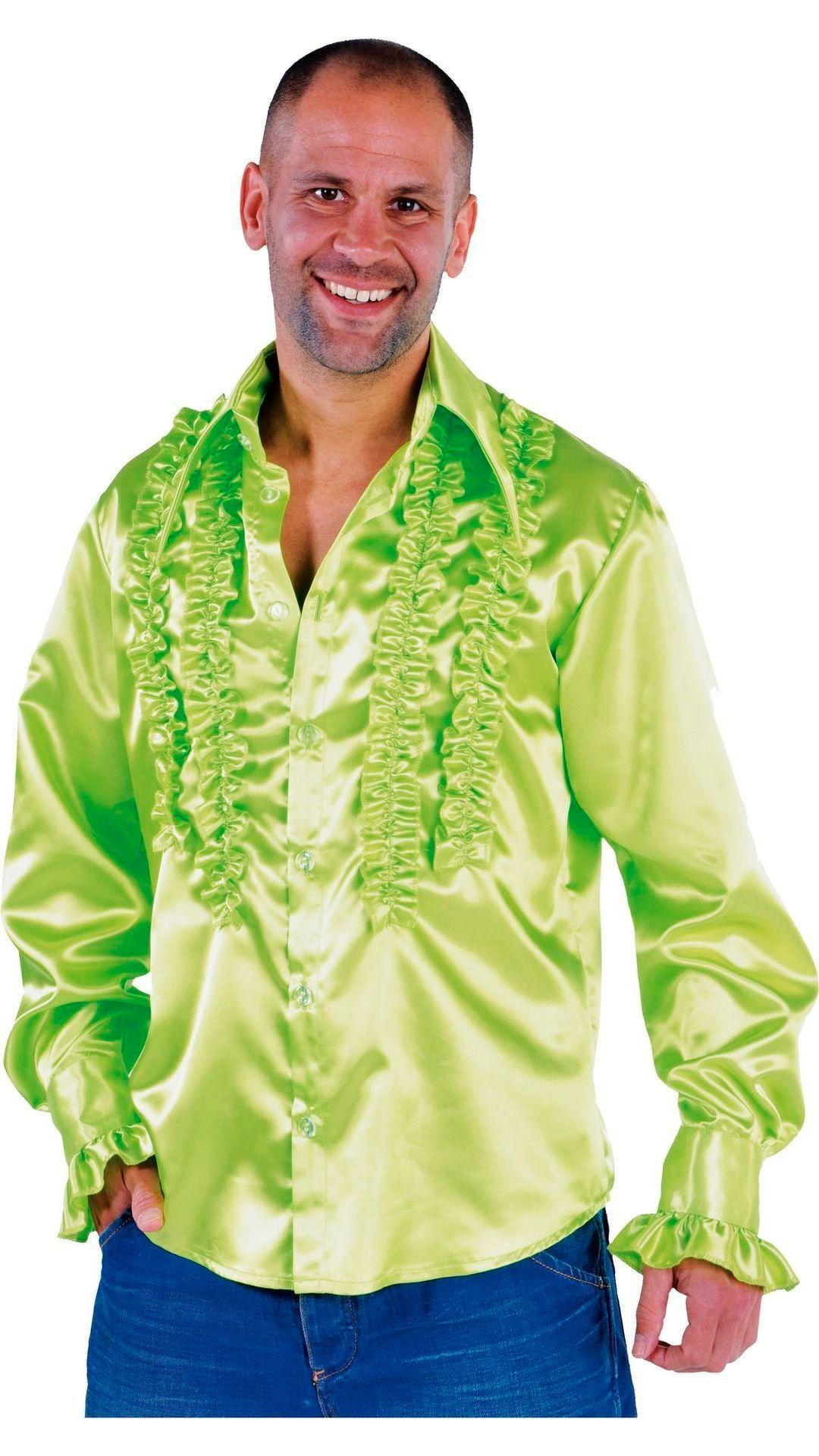 Rouches blouse groen mannen