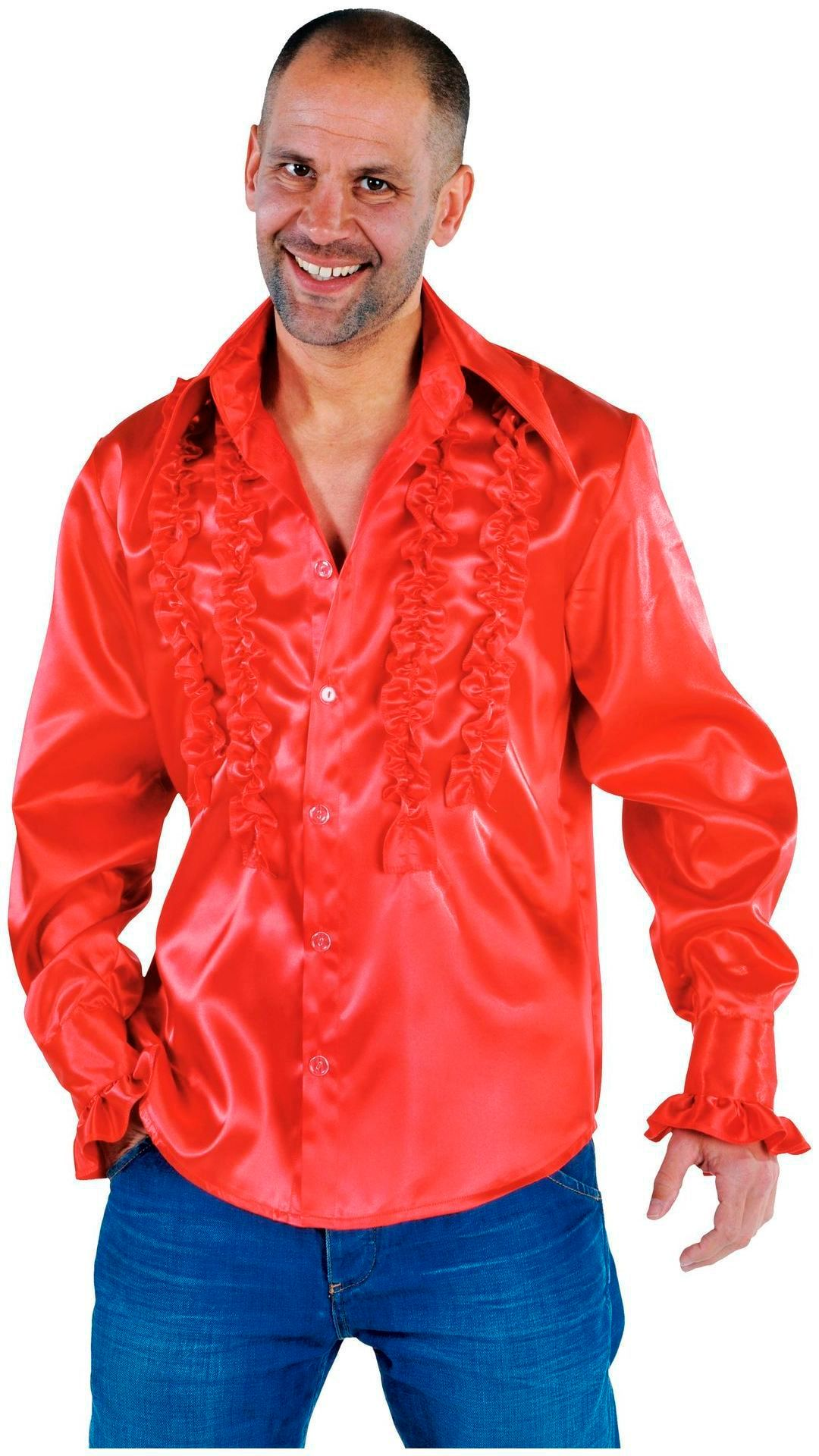 Rouches blouse rood mannen