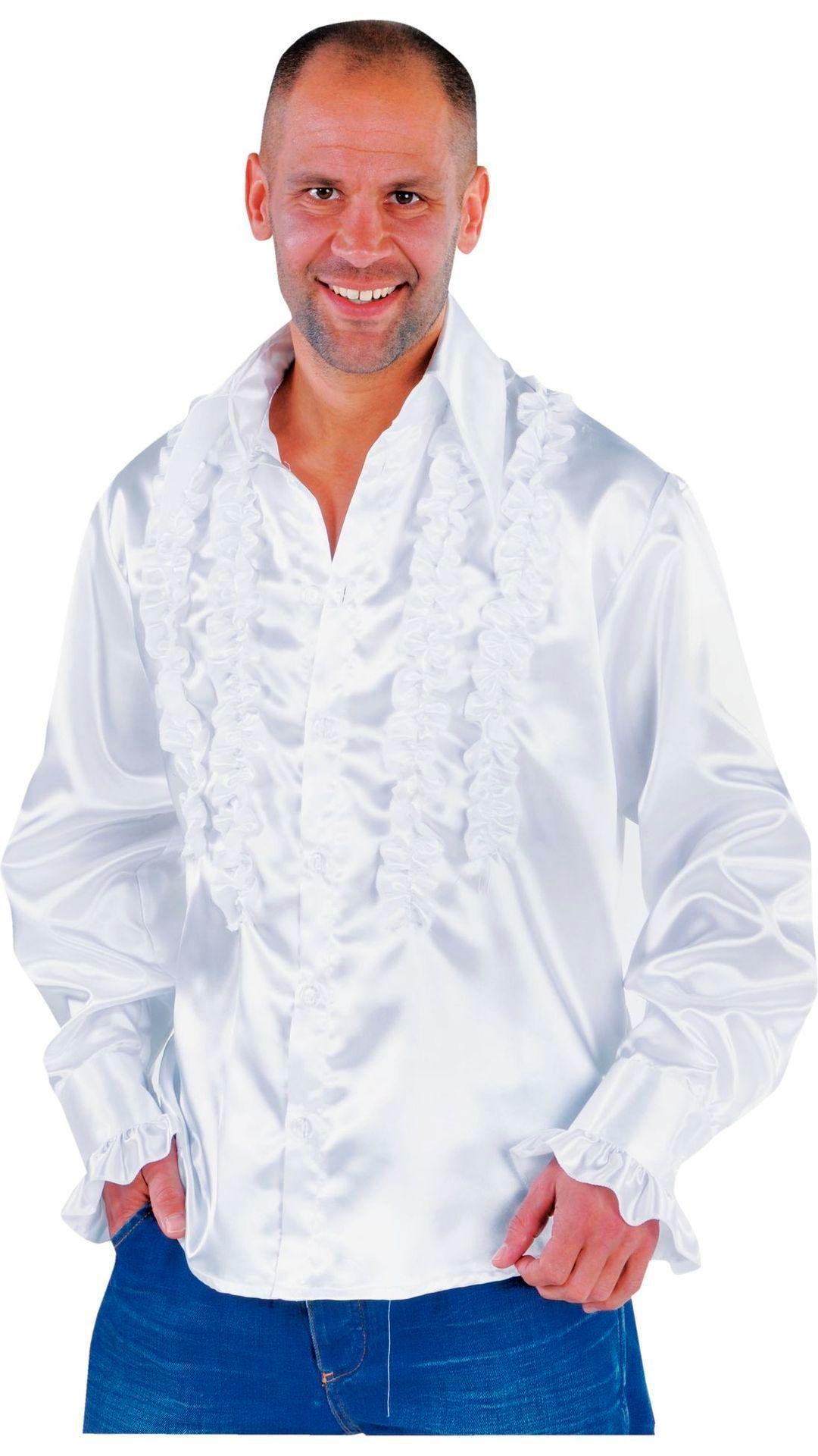 Rouches blouse wit mannen