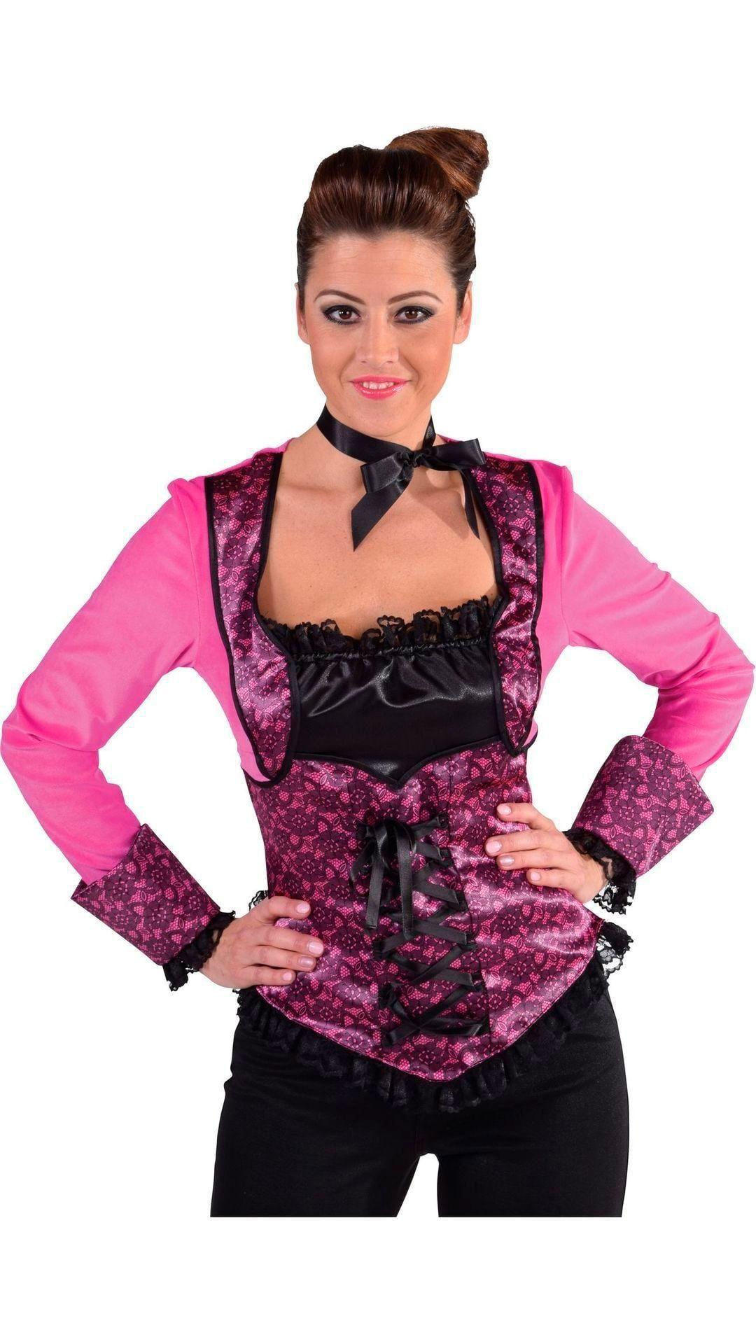 Roze 20s burlesque topje