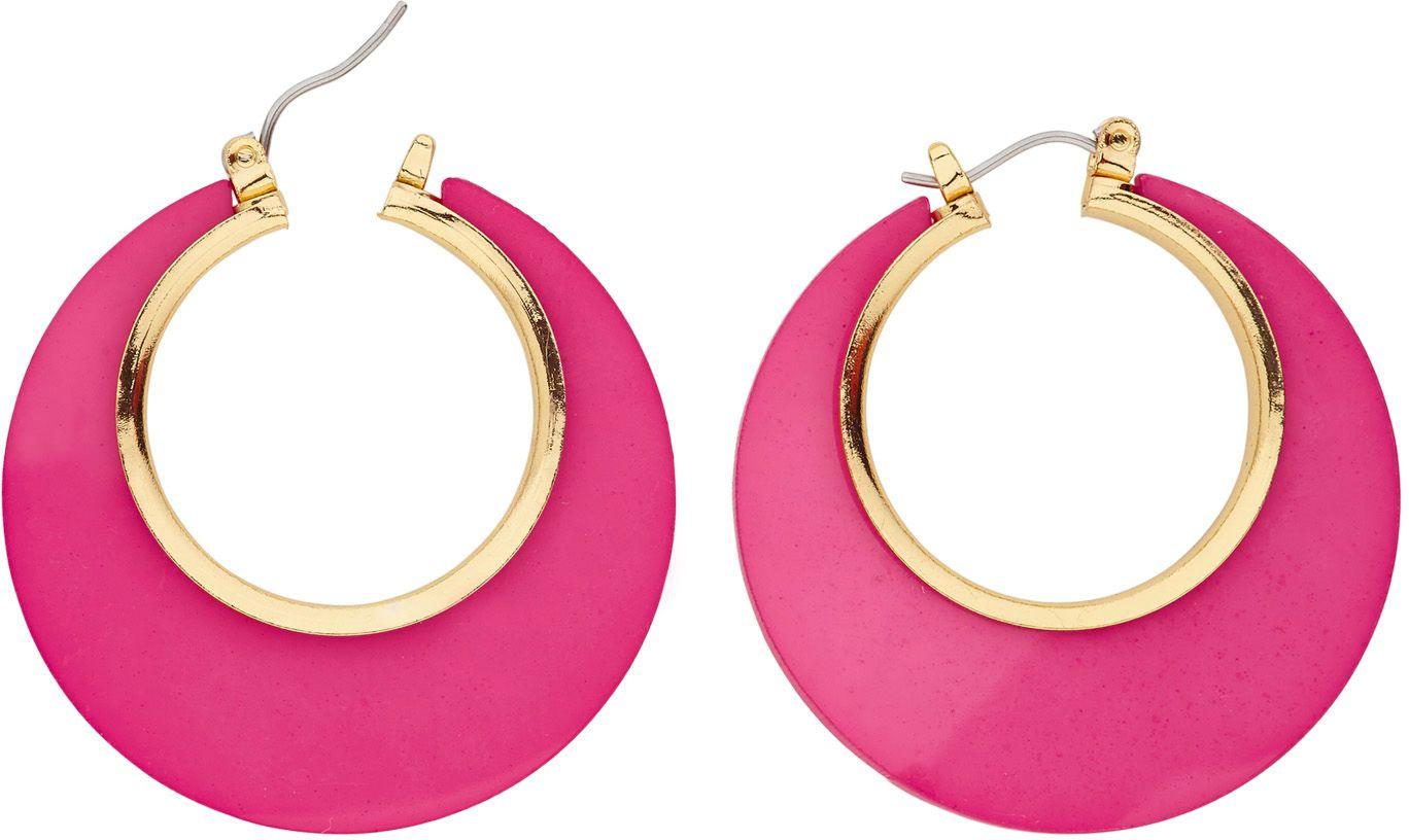 Roze 70s oorbellen