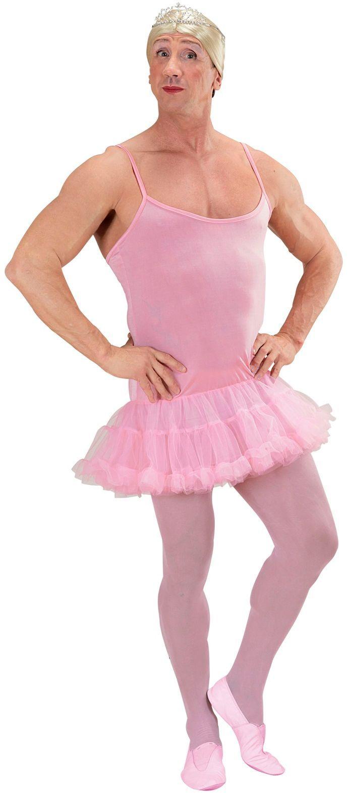 Roze ballerina travestieten jurkje