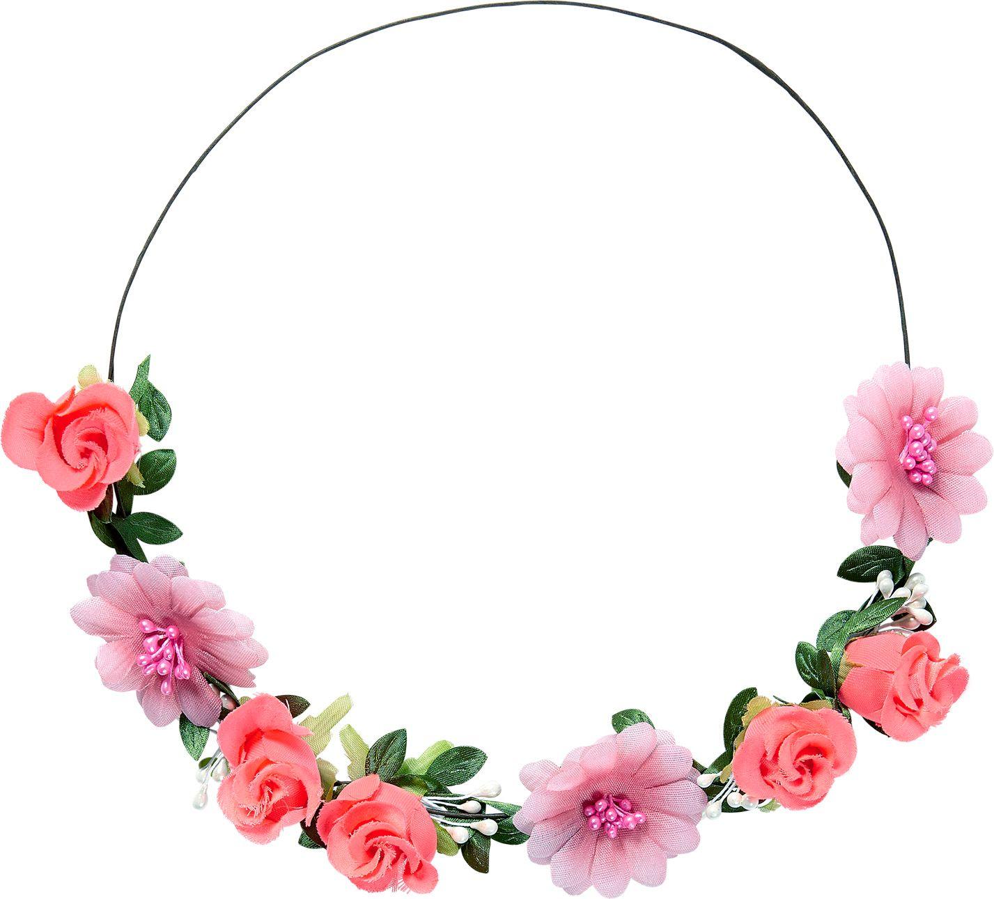 Roze bloemetjes hoofdband