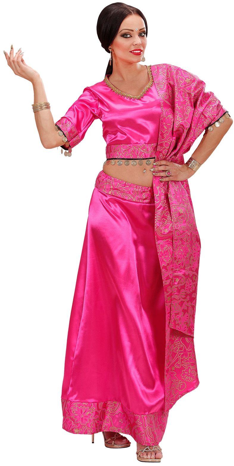 Roze buikdanseres kostuum