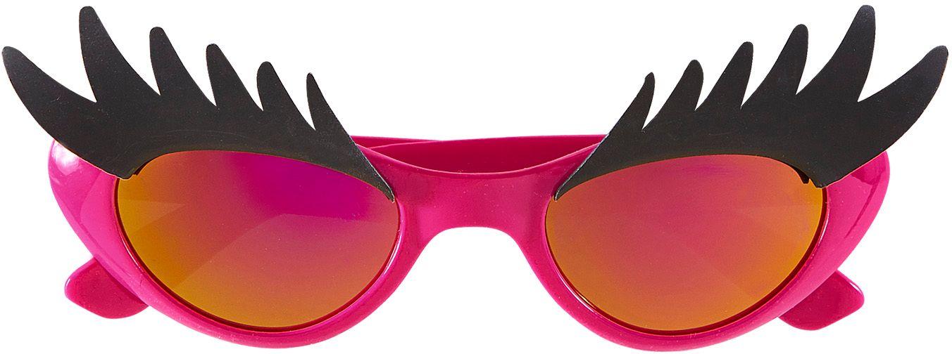 Roze discobril met wenkbrauwen