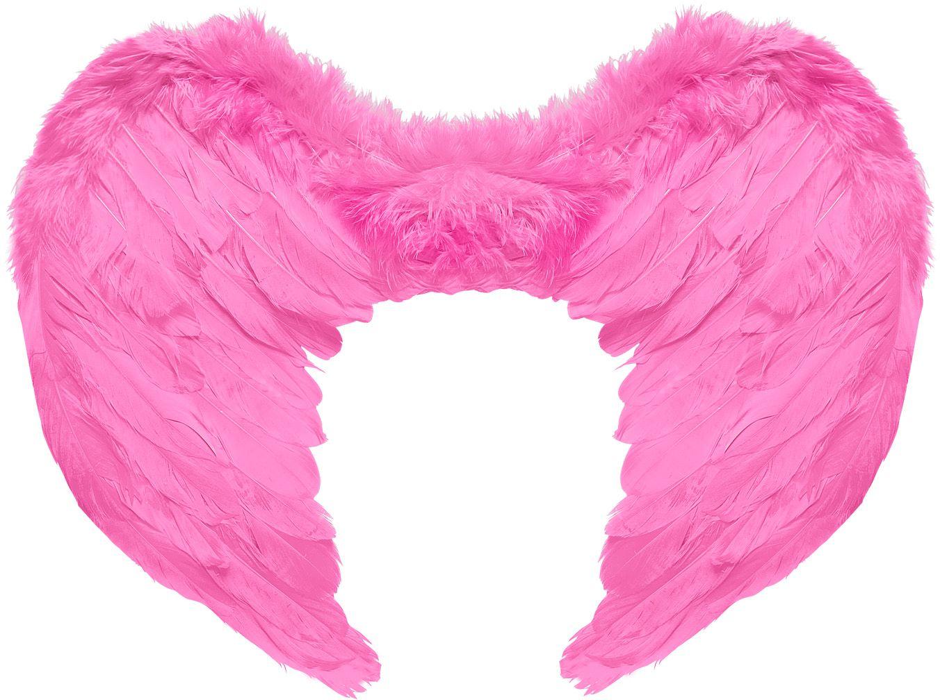 Roze gevederde vleugels