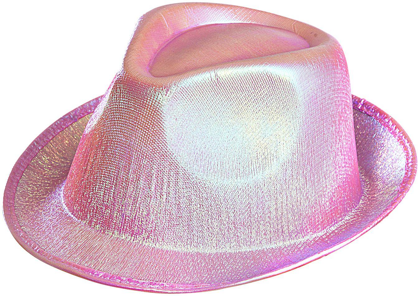Roze glitter hoed