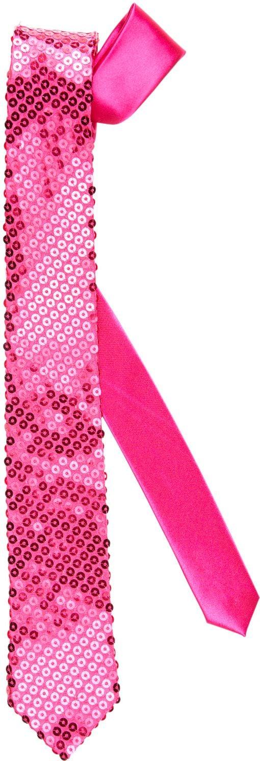 Roze glitter stropdas