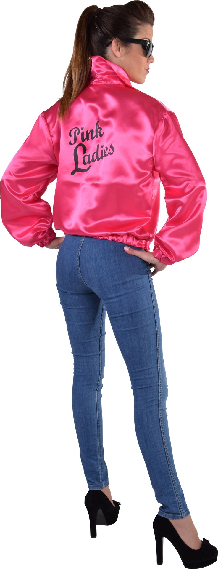Roze Grease jas dames 50s
